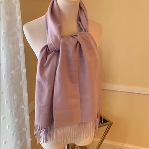 NWOT Lilac Cashmere Scarf Made In Scotland